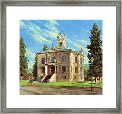Columbia County Courthouse Framed Print