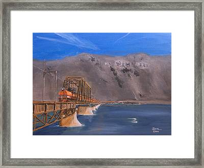 Columbia Crossing Framed Print by Christopher Jenkins