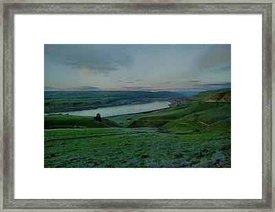 Framed Print featuring the photograph Columbia Gorge In Early Spring by Jeff Swan