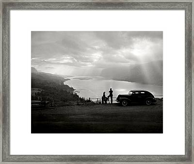 Columbia Gorge Framed Print by Ray Atkinsen