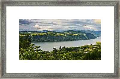 Columbia Gorge Scenic Area Framed Print