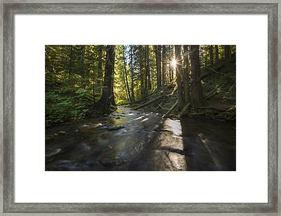 Columbia Gorge Sunrise Framed Print