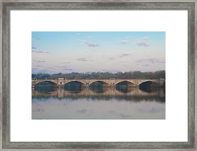 Framed Print featuring the photograph Columbia Railroad Bridge - Philadelphia by Bill Cannon