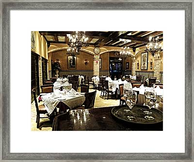 Columbia Restaurant Fine Dining Framed Print