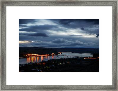 Framed Print featuring the photograph Columbia River by Cat Connor