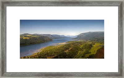 Columbia River Gorge  Framed Print by Drew Castelhano