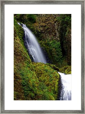 Columbia River Gorge Falls 1 Framed Print by Marty Koch