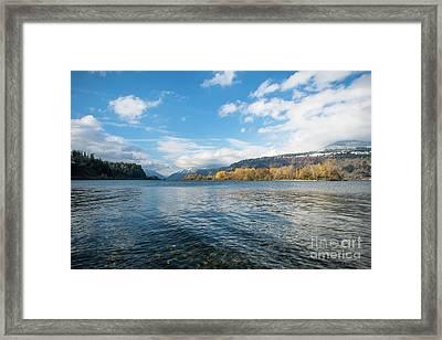 Columbia River Framed Print by Linda Steider