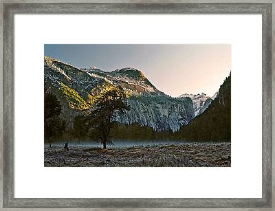 Framed Print featuring the painting Columbia Rock by Larry Darnell