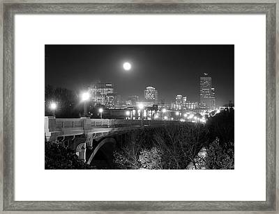 Columbia Skyline At Night Framed Print