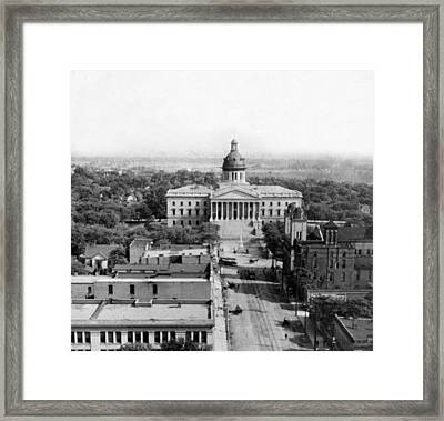 Columbia South Carolina - State Capitol Building - C 1905 Framed Print
