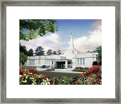 Columbia South Carolina Temple Framed Print by Brent Borup
