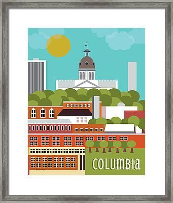 Columbia South Carolina Vertical Scene Framed Print