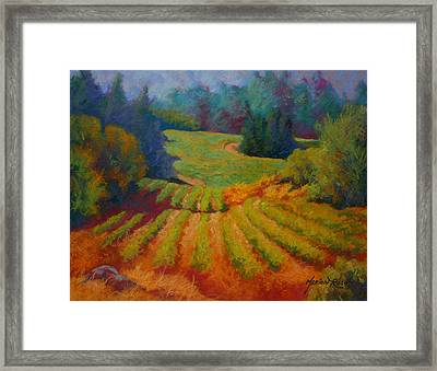 Columbia Valley Vineyard Framed Print by Marion Rose