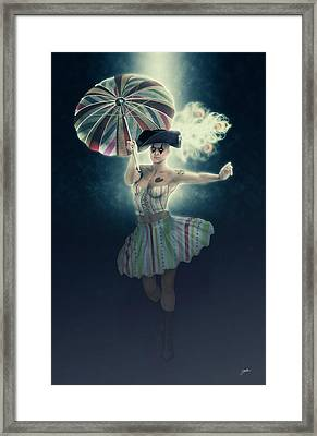 Columbine Funny Girl Framed Print by Joaquin Abella
