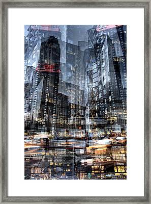 Columbus Circle Collage 1 Framed Print
