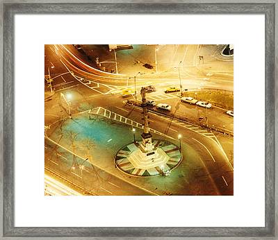Columbus Circle Framed Print by Don Youngclaus