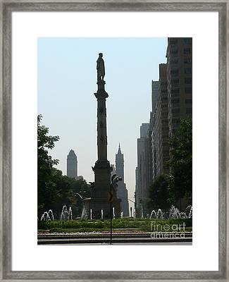 Columbus Circle New York City Framed Print