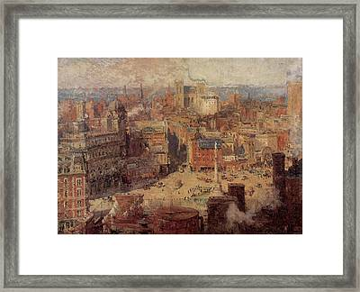 Columbus Circle New York Framed Print by Colin Campbell Cooper
