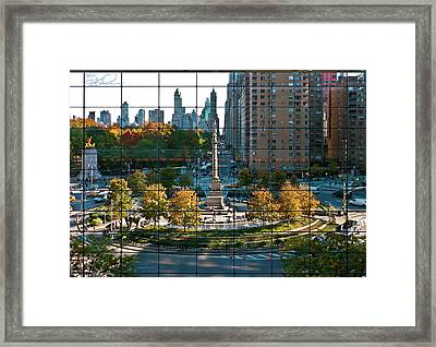 Columbus Circle Framed Print by S Paul Sahm
