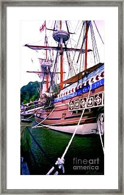 Columbus Day Celebration Framed Print by Methune Hively