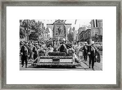 Columbus Day Parade San Francisco Framed Print