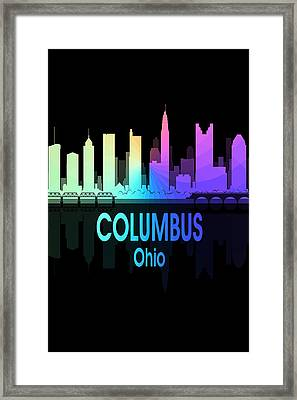 Columbus Oh 5 Vertical Framed Print
