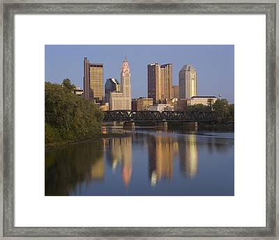 Columbus Ohio Evening Framed Print