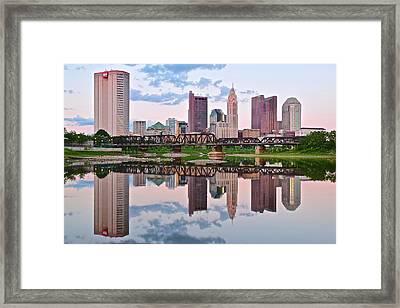 Columbus Ohio Reflects Framed Print