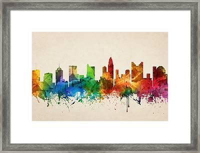 Columbus Ohio Skyline 05 Framed Print