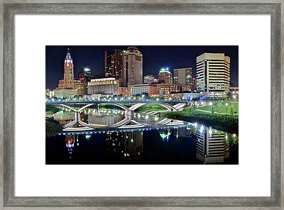 Columbus Over The Scioto Framed Print by Frozen in Time Fine Art Photography