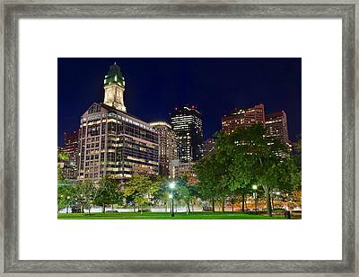 Columbus Park Boston View Framed Print by Frozen in Time Fine Art Photography