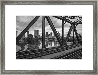 Columbus Train Tracks  Framed Print