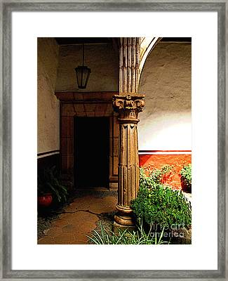 Column In The Corridor Framed Print by Mexicolors Art Photography