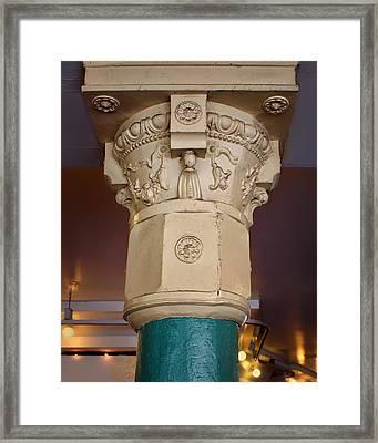 Column - Main Arcade - Pike Place Market Framed Print by Nikolyn McDonald