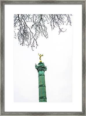Column Of July. Bastille's Place. Paris. France. Framed Print by Bernard Jaubert