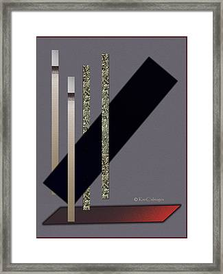 Columns And Spaces Framed Print
