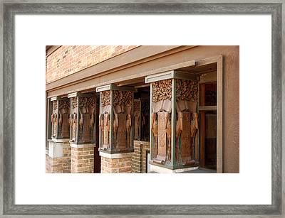 Columns At Frank Lloyd Wright Studio Framed Print