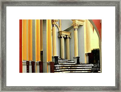Columns At Plaza De Italia Framed Print