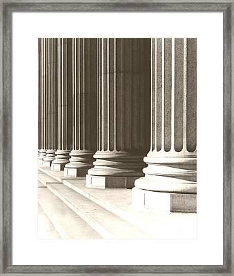 Columns Framed Print by Daniel Napoli