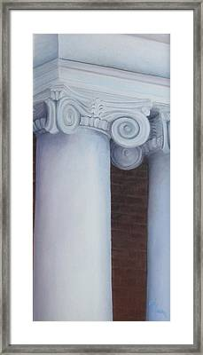 Columns Of Davidson Hall Framed Print by Mary Rogers
