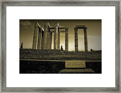 Columns Of The Olympian Zeus Framed Print
