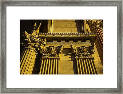 Columns Of The Palace Of Fine Arts Framed Print by Garry Gay