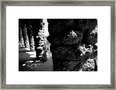 Columns Of The Park Guell Framed Print