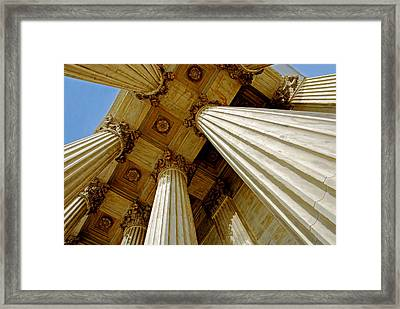 Columns. Supreme Court Framed Print