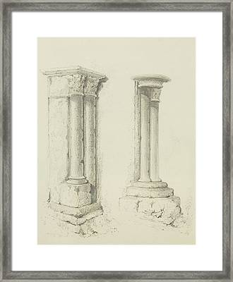 Columns Framed Print by Thomas Leeson the Elder Rowbotham