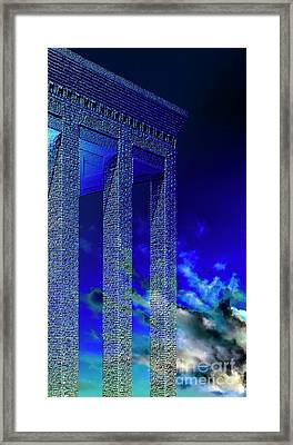 Columns Under The Heaven Framed Print by Adriano Pecchio