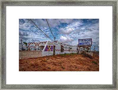 Comanche Motel Framed Print
