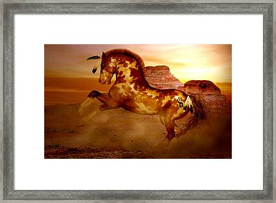 Comanche Framed Print by Valerie Anne Kelly