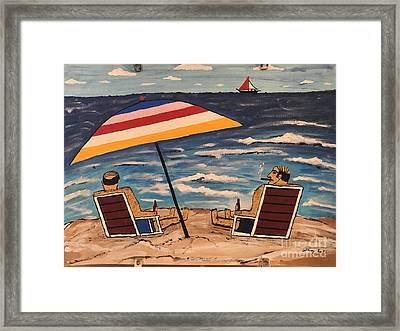 Comb Over Brothers Framed Print
